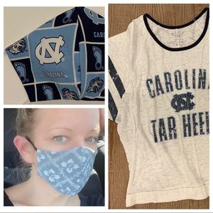 Accessories - UNC homemade mask and shirt combo